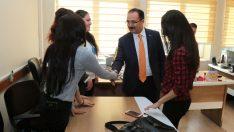 Başkan Cahan'dan Yalçın'a Ziyaret