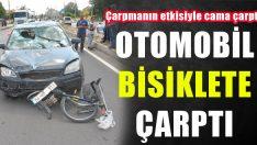 Uşak'ta Otomobil Bisiklete Çarptı