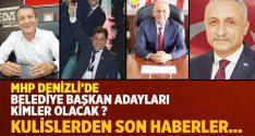 MHP Denizli'de Belediye Başkanı Adaylığı için İsmi Geçenler