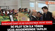 Düşen uçakta ölen pilotlar için Aydın'da tören düzenlendi
