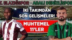 Abalı Denizlispor, Urfa'da Elazığspor ile Karşılaşacak