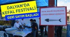 Dalyan'da kefal balığı festivali
