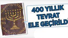 Aydın'da 400 yıllık Tevrat ele geçirildi