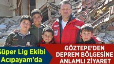 Göztepe'den Deprem Bölgesine Anlamlı Ziyaret