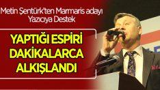 Metin Şentürk'ün Seçim Espirisi Dakikalarca Alkış Aldı