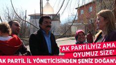 """AK Partiliyiz Ama Oyumuz Size"""