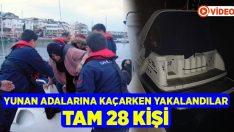 Yunan adalarına kaçmaya çalışan 28 kaçak göçmen yakalandı