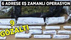 Kuşadası'nda 6 adrese eş zamanlı uyuşturucu operasyonu; 9 gözaltı