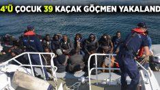 Kuşadası'nda 14'ü çocuk 39 kaçak göçmen yakalandı