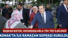 Konak'ta İlk Ramazan Sofrası Kuruldu