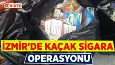 İzmir'de kaçak sigara operasyonu