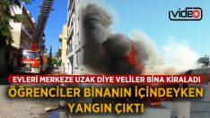 Aydın'da Öğrencilerin Kaldığı Binadaki Yangın