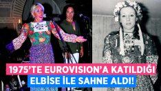 1975'te Eurovision'a katıldığı elbise ile sahne aldı!