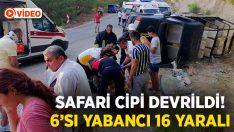 Safari cipi devrildi: 6'sı yabancı 16 yaralı