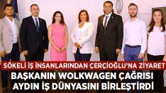 Sökeli iş insanlarından Başkan Çerçioğlu'na ziyaret