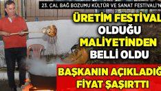 Başkan Fethi Akcan, 23. Çal Bağ Bozumu Kültür ve Sanat Festivali'nin maliyetini açıkladı