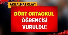 Aydın Nazilli'de 4 Ortaokul Öğrencisi vuruldu!