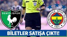 Denizlispor – Fenerbahçe maç biletleri satışa çıktı!