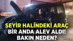 İzmir Bayraklı'da seyir halindeki ticari araç alev aldı!