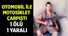 İzmir Foça'da otomobil ve motosiklet çarpıştı.. Mertcan Güler yaşamını yitirdi