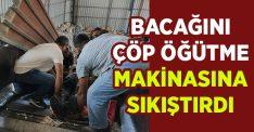 İzmir Gaziemir'de iş kazası.. Bacağı çöp öğütücüye sıkıştı!