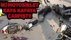 Manisa Turgutlu'da motosiklet kazası! kafa kafaya çarpıştılar!