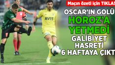(ÖZET)Yukatel Denizlispor evinde Fenerbahçeye mağlup oldu