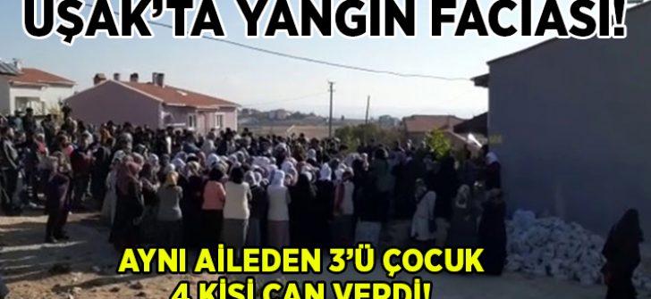 Uşak'taki yangında aile faciası yaşandı. Baba Bülent Yaşar ve 3 çocuğu can verdi!