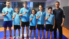 Aliağalı güreşçiler Yasin Koç, Hasancan Ersoy, Ediz kanut ve Emir Yıldırım başarıya doymuyor