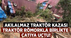 Aydın Nazilli'de akılalmaz traktör kazası.. Necip Can yaralandı!