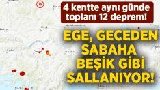 Ege Geceden sabaha adeta beşik gibi sallandı! Muğla, Denizli, Afyon ve Kütahya'da deprem!