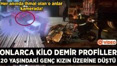 İzmir Bornova'da onlarca kilo ağırlıktaki demir profiller Gül Ergün'ün üzerine düştü! Hayattan kopardı!