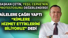 Ali Çetin, Yeşil Cephe'nin tepkisini değerlendirdi
