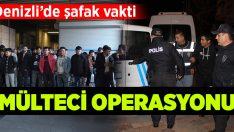 Denizli'de şafak vakti sokakta kaçak mülteci operasyonu