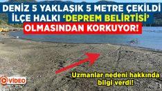 Marmaris'te deniz 5 metre çekildi..İlçe halkı 'deprem belirtisi' olmasından korkuyor!