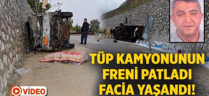 Muğla Seydikemer'de tüp kamyonetinin freni patladı! Necati Baran öldü Bekir Özdemir yaralı!