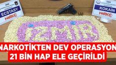 İzmir polisinden zehir tacirlerine darbe