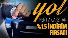 Yol Rent A Cars, yüzde 15 indirim fırsatı