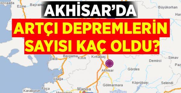 Akhisar'da kaç artçı deprem meydana geldi?