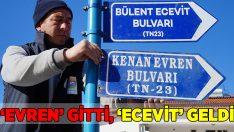 Marmaris'te 'Evren' gitti, 'Ecevit' geldi