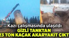 Manisa'da gizli tanktan 23 ton kaçak akaryakıt çıktı