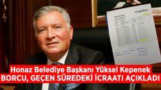 Başkan Kepenek Honaz Belediyesi'nin borcunu paylaştı