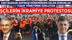 Eski yönetimde başlayan maddi sıkıntılar Karşıyaka Belediyesi'de işçi eylemine neden oldu