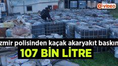İzmir polisinden kaçak akaryakıt baskını