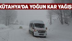 Domaniç'te yoğun kar yağışı