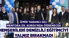 İzmir'de Mentora Dil Kursu açıldı, Denizlililer hemşerilerini yalnız bırakmadı