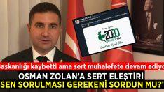 CHP'li Varlıker'den Osman Zolan'a sert eleştiri