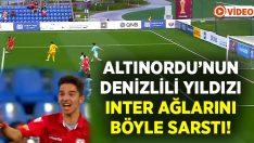 Altınordu'nun Denizlili yıldızı Inter'e attığı gol mest etti!