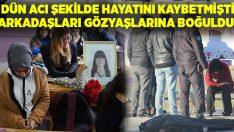 Aydın'da hayatını kaybeden Beyza Aygül'ün arkadaşları okulda gözyaşlarına boğuldu