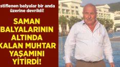 Aydın Nazilli'de saman balyasının altında kalan Muhtar Özkan Ergin hayatını kaybetti!